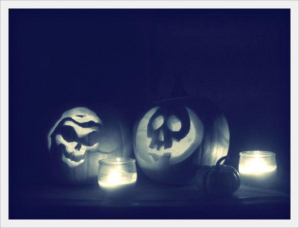 we carved pumpkins, yes we did