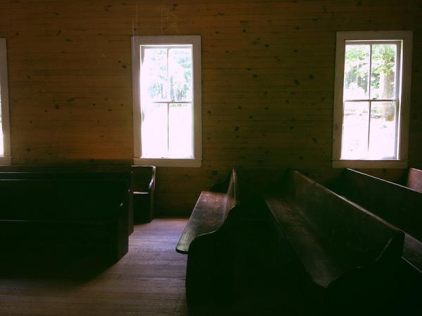 Inside Cades Cove Missionary Baptist Church