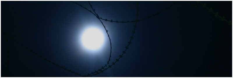 Barbed Wire By Full Moon 2/3