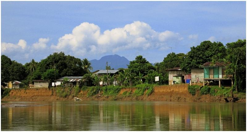panama darien sambu river mountain sky trees