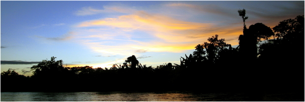 Sunset on the Rio Sambu