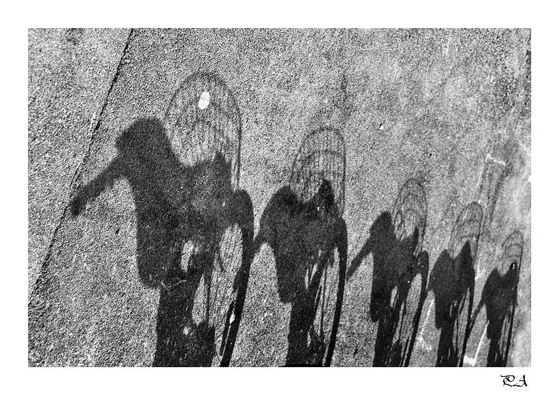 Ombres,vélo