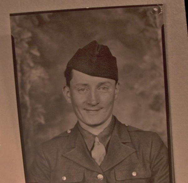 A photo of my grandfather in his WWII uniform