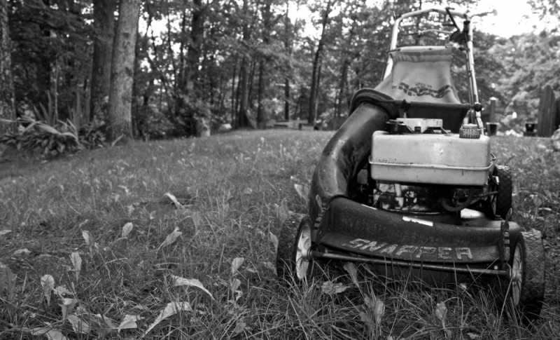 Our old lawnmower.