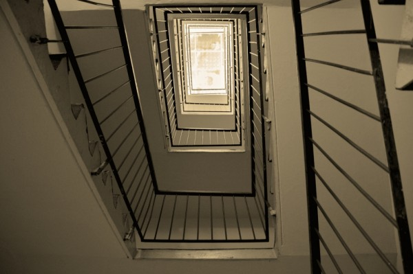 The stairwell of my apartment building in Martin.
