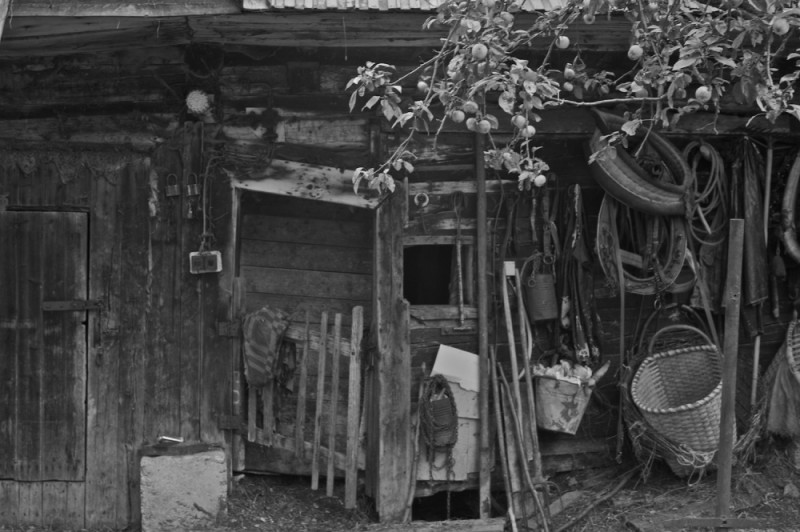 A stable in the foothills of the Mala Fatras.