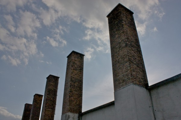 Smokestacks on the way to the national library