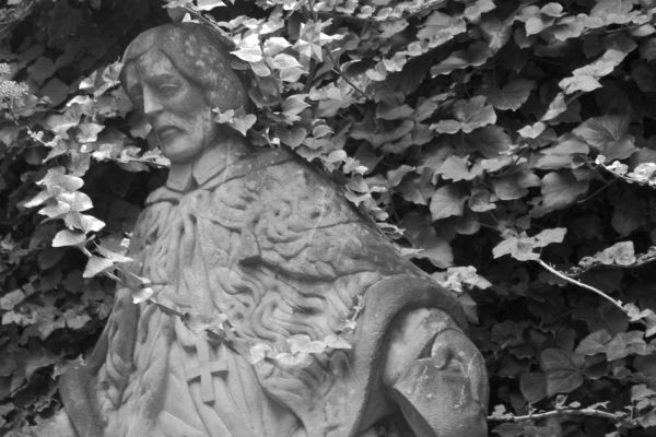 A statue of St. Martin in Bratislava