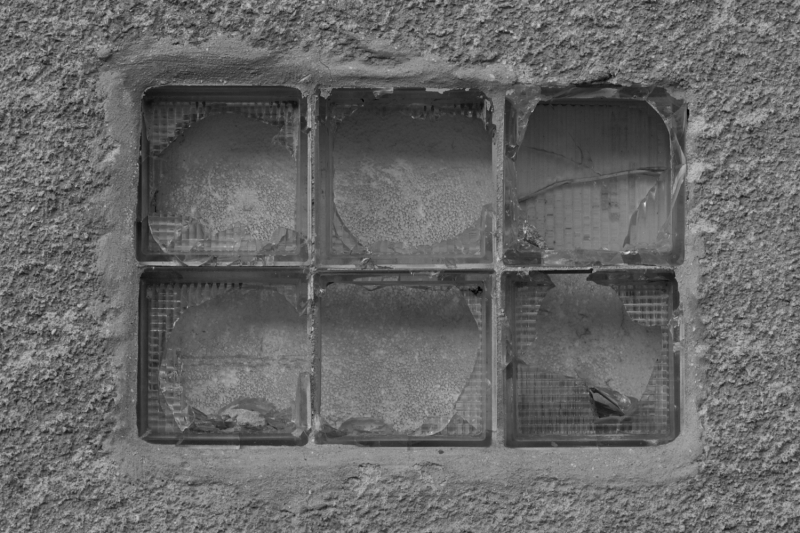 Windows in a garage.