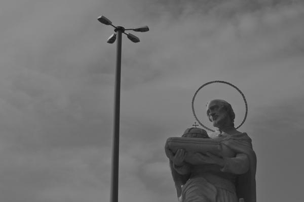 A statue in Bratislava.