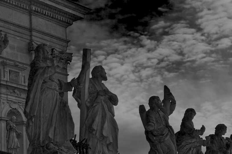 Statues of the apostles in Krakow.