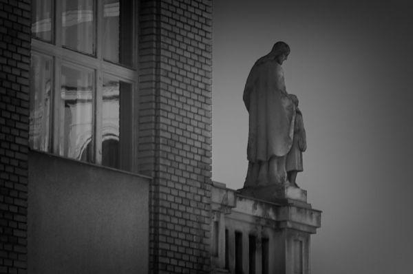 A statue in Ruzomberok Slovakia.