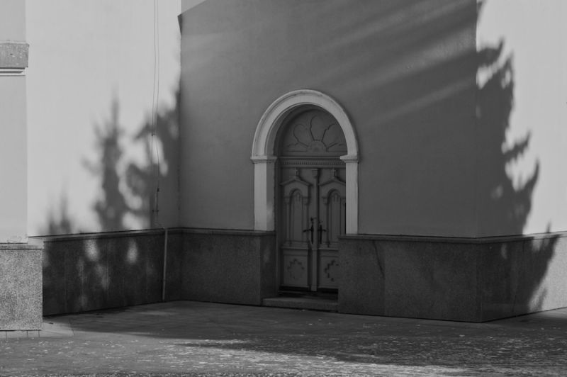 The side door of a church in Ruzomberok.