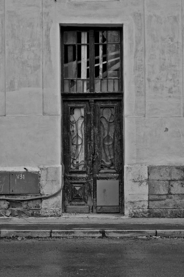 A door to a block of flats in Vrútky.