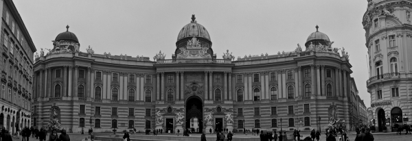A shot of Hofburg Palace in Vienna.