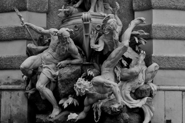 A statue outside Hofburg Palace.