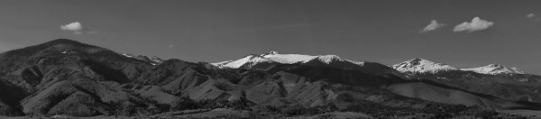 A panorama of the mountains just north of my city.