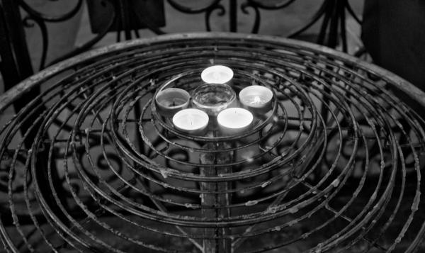 Devotional candles in Paris.