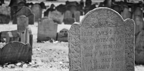 A cemetery in Boston.