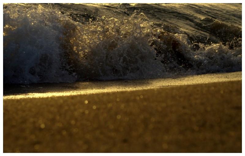 The Sunset on the Sea at Candolim, Goa