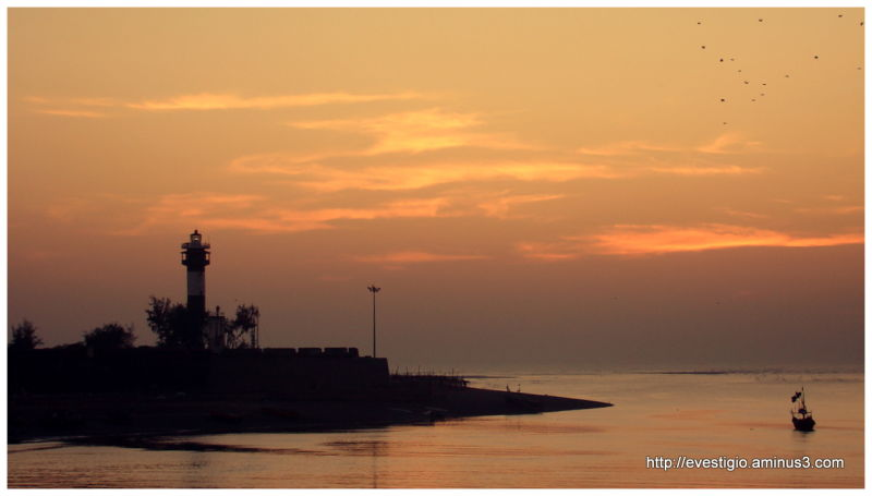 Sunset over Moti Daman, Daman