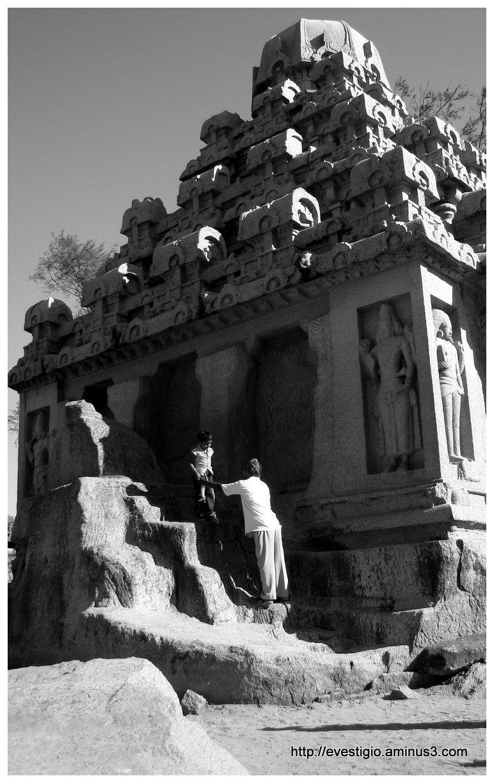 Yudhishthira's Ratha at Mahabalipuram, Tamil Nadu