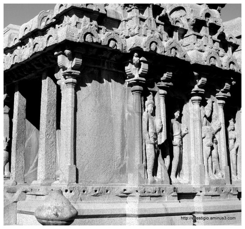 Arjuna's Ratha at Mahabalipuram, Tamil Nadu