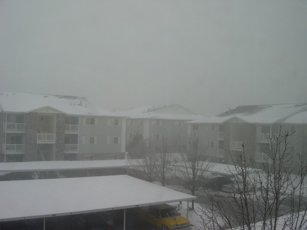 Snowing Heavily