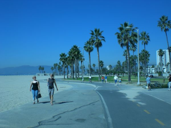 Walking by Santa Monica