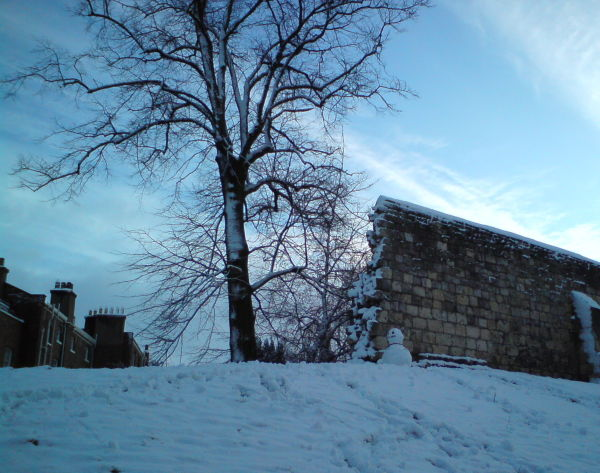 City Wall and Snowman