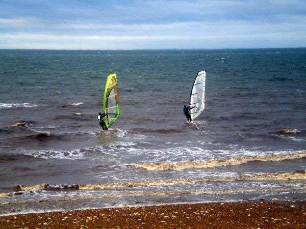 Windsurfing in The Wash