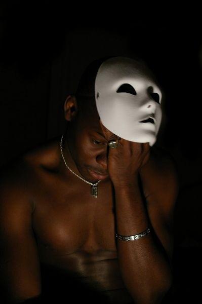 Portrait au masque