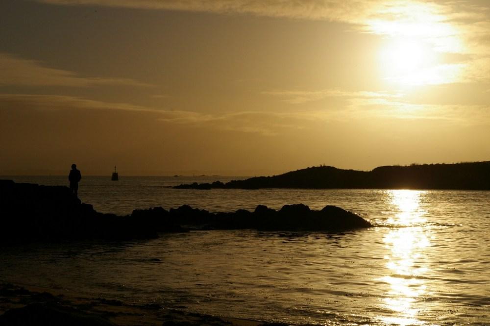 port-louis lohic mer sea plage bretagne sunset