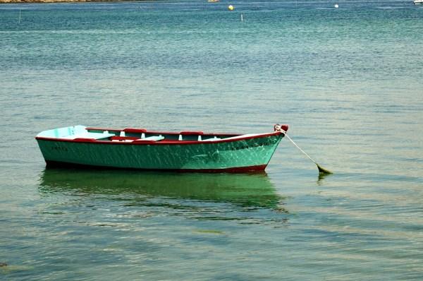 ria d'étel morbihan bretagne barque reflet