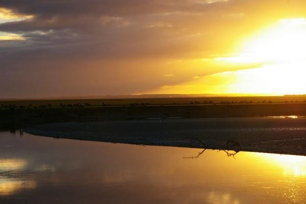 mont-saint-michel normandie ciel sunset