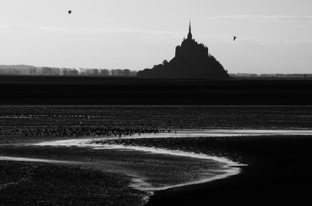 mont-saint-michel baie sunset normandie grouin du