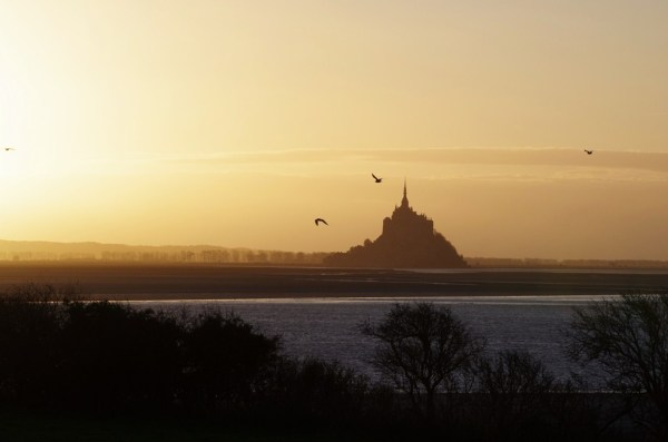 mont-saint-michel baie normandie sunset grouin du