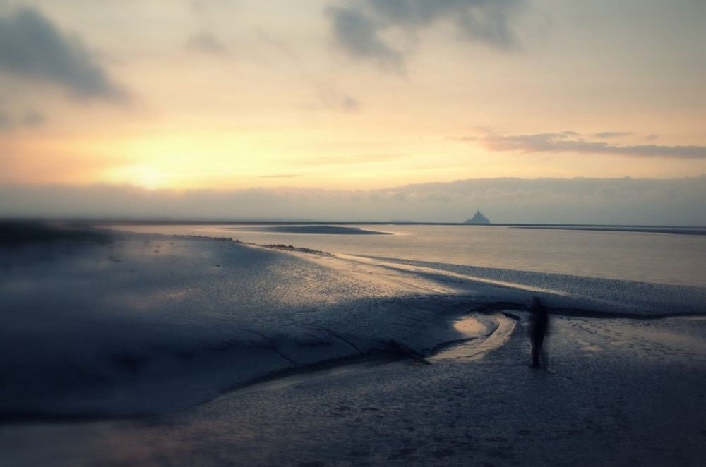 baie mont-saint-michel torin sunset normandie