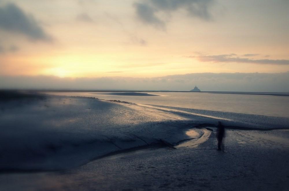 baie mont-saint-michel torin sunset normandie