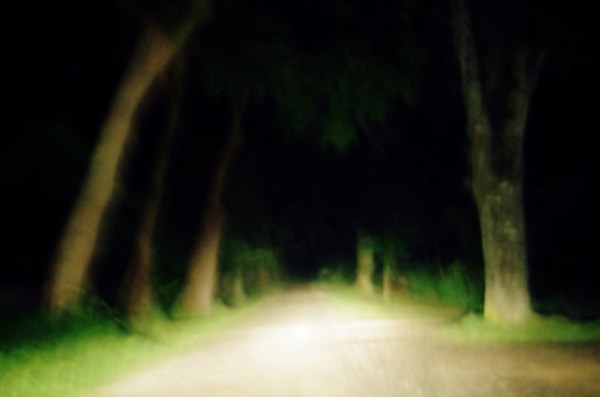 Nuit, phares, pluie