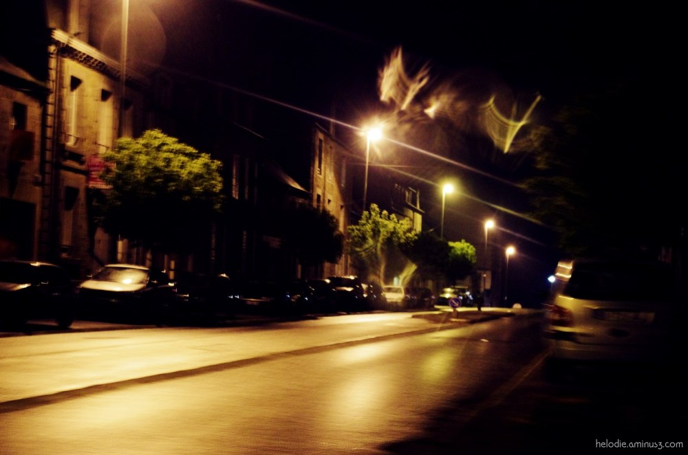 nuit normandie pluie road sartilly