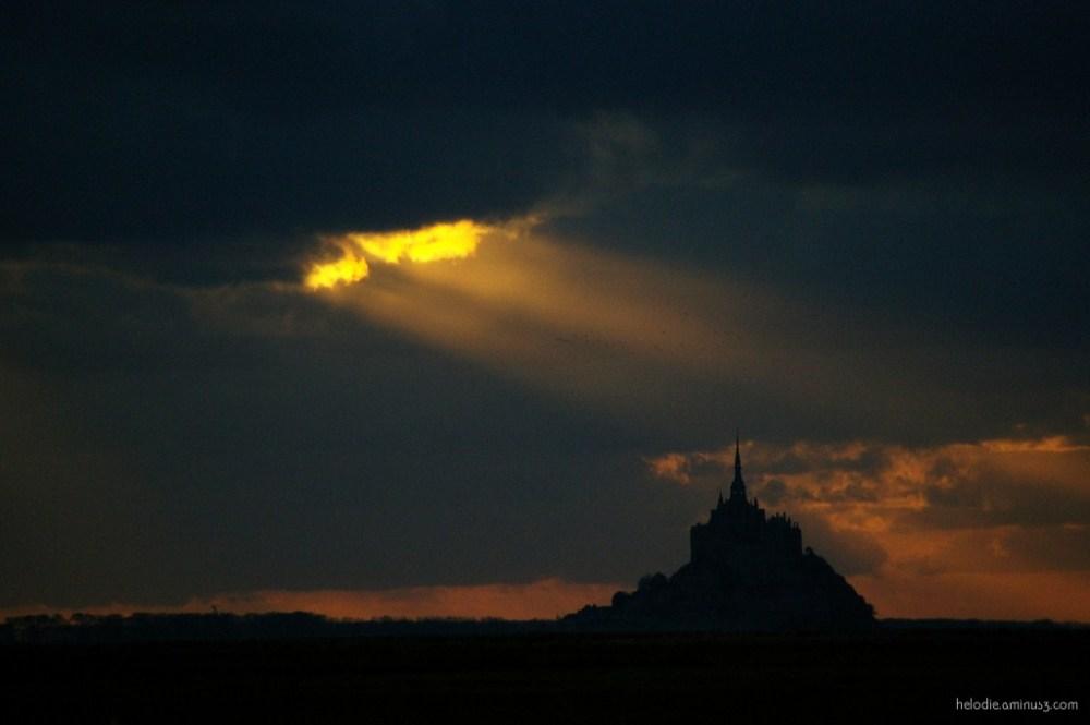 baie mont-saint-michel normandie sunset