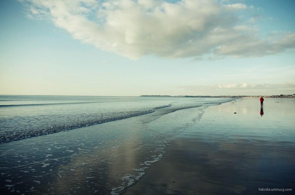 normandie sunset mer sea carolles silhouette