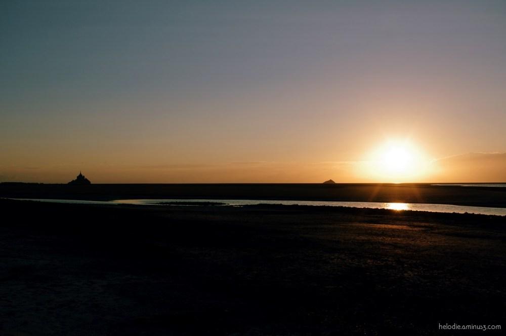 mont-saint-michel normandie roche-torin sunset