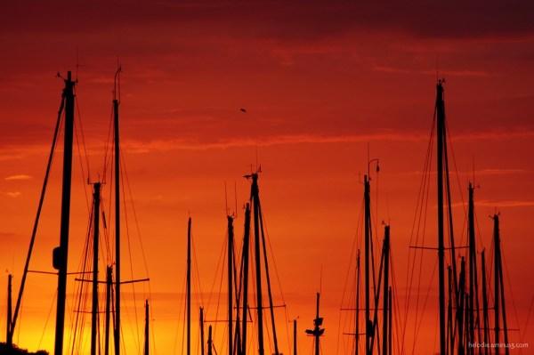 bretagne port-louis sunset mat