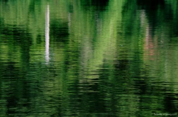 Bâton blanc sur eau qui danse