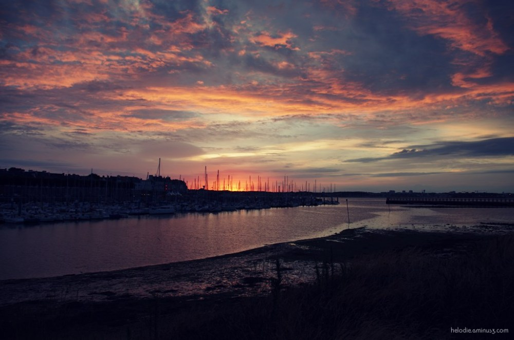 port-louis bretagne port sunset elodie hergoualch