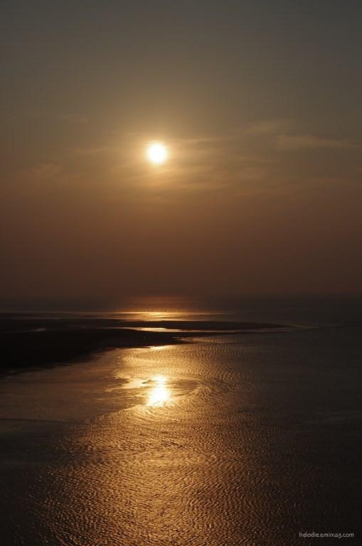 elodie hergoualch baie mont-saint-michel sunset
