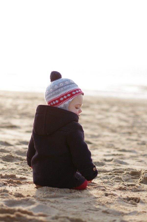 Le petit normand à la plage