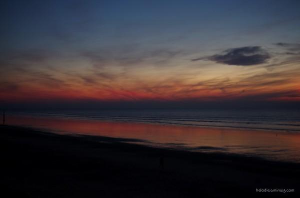 Sunset à Saint-Pair-sur-Mer